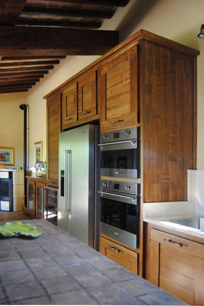 colonne con frigo doppia porta forno, microonde e cantinetta